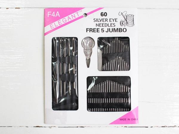Набор игл для шитья с нитковдевателем TM Elegant арт. F4А