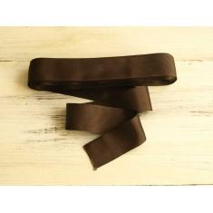 Тесьма репсовая 3 см коричневая арт. 10185