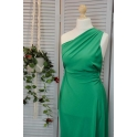 Ткань шелк зеленый арт. 12319